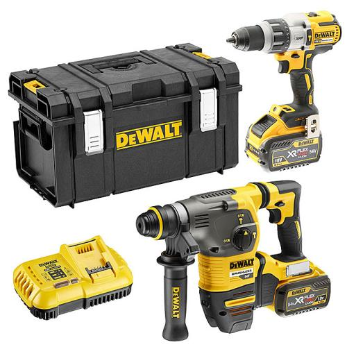 Dewalt Dck2033x2 54v Combi & Sds+ Twin Kit