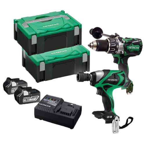Hitachi Kc18dpl2/jb 18v Combi & I/wrench Kit