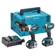 Makita Dlx2145tj 2pc Li-on Combi Kit 5ah