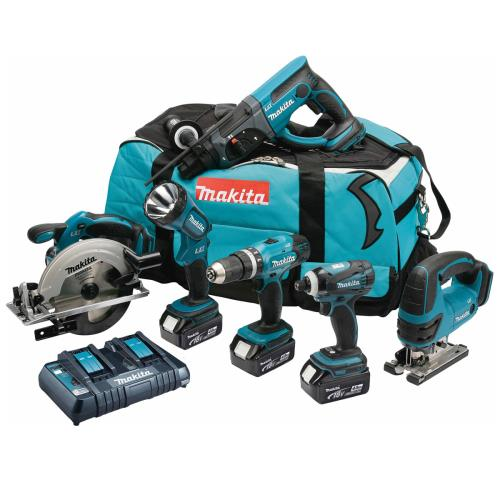 Makita Dlx6017pm 18v Lxt 6pc Combo Kit