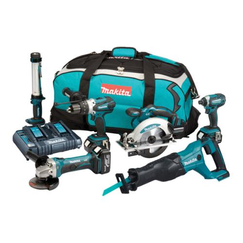 Makita Dlx6044pt 6 Piece Li-ion Combi Kit
