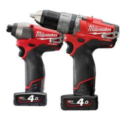 Milwaukee M12pp2a-402 12v Fuel Twin Pack