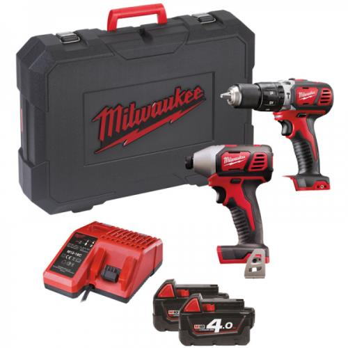 Milwaukee M18bpp2c-402c 18v New Twin Pack