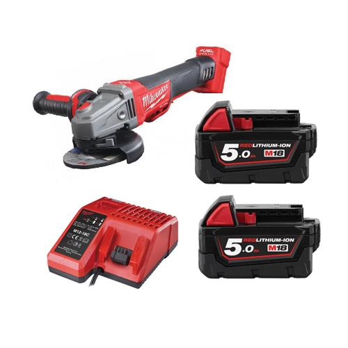 Milwaukee M18cag115xpdb502c 18v 115mm Grinder