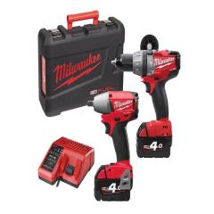 Milwaukee 18v Drill & Wrench Twin Pack