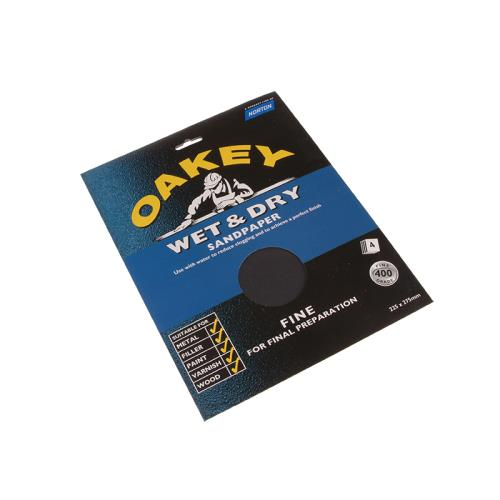 Oakey Flex Wet & Dry Paper Medium (4) Sheets
