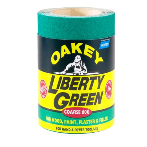 Oakey Liberty Green Roll 5m X 115mm 80g
