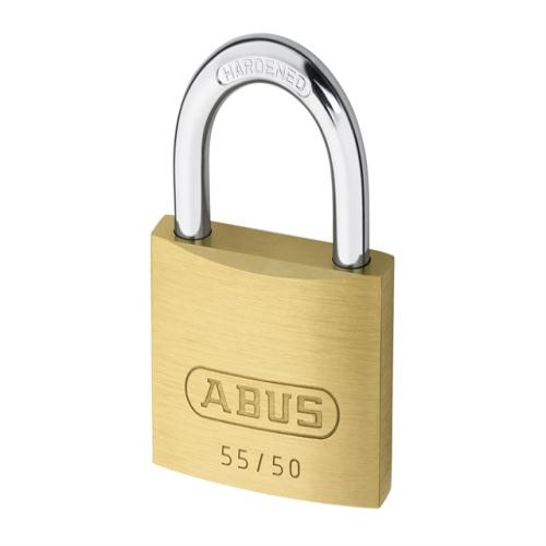 Abus 55 50mm Brass Padlock Carded