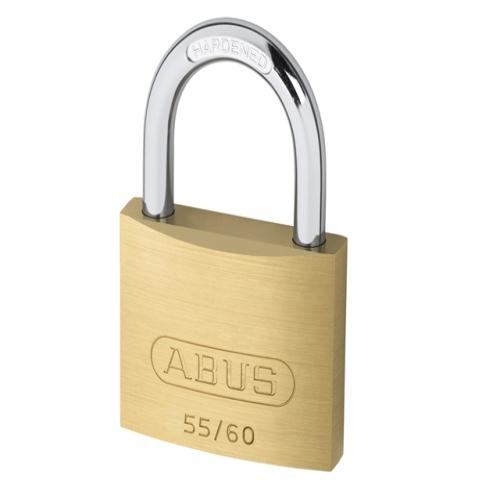 Abus 55 60mm Brass Padlock Carded
