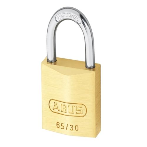 Abus 65 30mm Brass Padlock Twin Carded