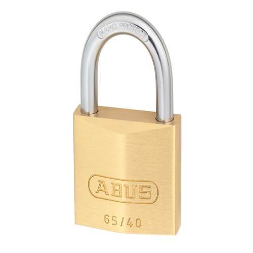Abus 65 40mm Brass Padlock Twin Carded