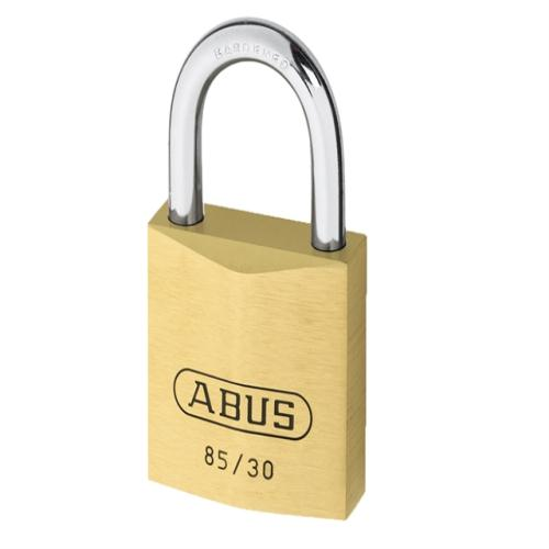 Abus 85 30mm Brass Padlock Carded