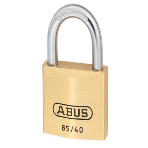 Abus 85 40mm Brass Padlock Carded