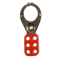 Abus 802 Lock Out Hasp 38mm Red With Safety C