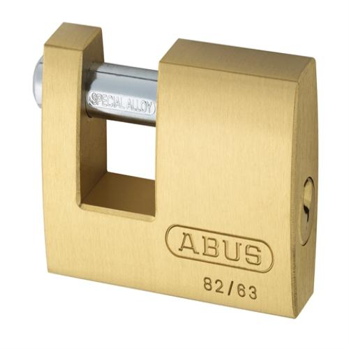 Abus 82 63mm Monoblock Brass Shutter Lock Key