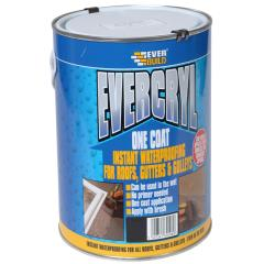 Everbuild Evercryl One Coat Black 2.5kg