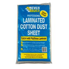 Everbuild Laminated Cotton Dust Sheet 12x9ft