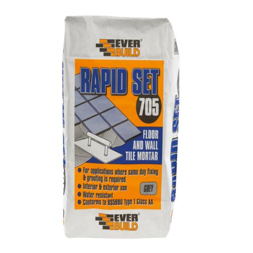 Everbuild Rapid Set Tile Mortar 705 10kg