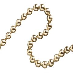 Faithfull Ball Chain Polished Brass 3.2mmx10m