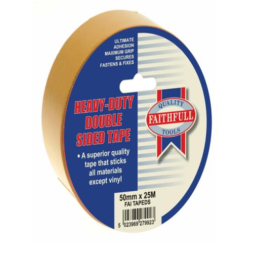 Faithfull Double Sided Tape 50mm X 25m
