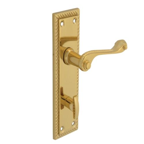 Forge Backplate Handle Georgian Brass 152mm