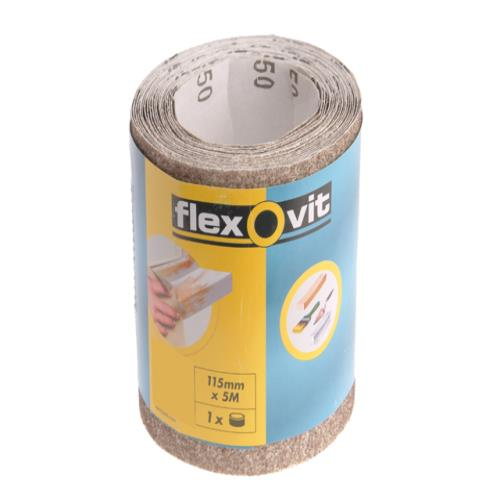 Flexovit Sanding Roll 115mm X 5m Medium 120g