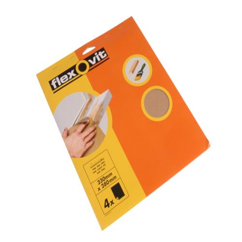 Flexovit Glasspaper Sanding Sheets Assorted