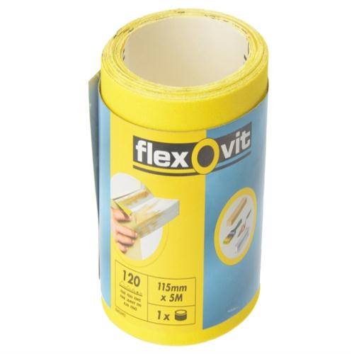Flexovit Sanding Roll 115mm X 5m Medium 80g