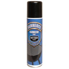 Hammerite Bbq Paint Aerosol Black Matt 400ml London Power Tools