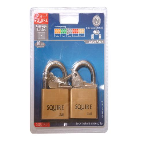 Henry Squire Ln5t Lion Brass Padlocks 5-pin