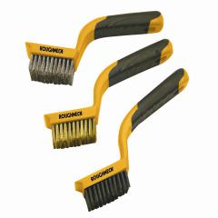 Roughneck Wide Brush Set Of 3 Soft Grip