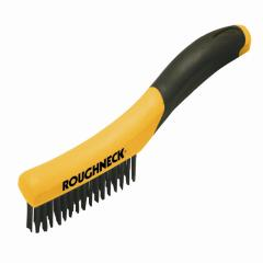 Roughneck Shoe Handle Wire Brush Soft-grip 25