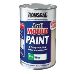 Ronseal Anti Mould Paint White Matt 750ml