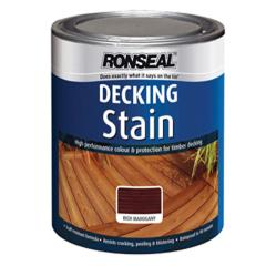 Ronseal Decking Stain Rich Mahogany 2.5 Litre