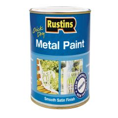 Rustins Metal Paint Smooth Satin White 250ml
