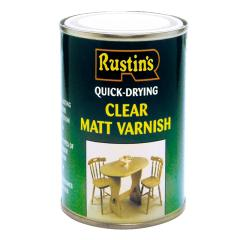 Rustins Quick Dry Varnish Matt Clear 1 Litre