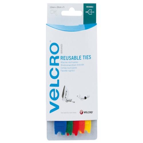 velcro brand one wrap reusable ties multi c london. Black Bedroom Furniture Sets. Home Design Ideas