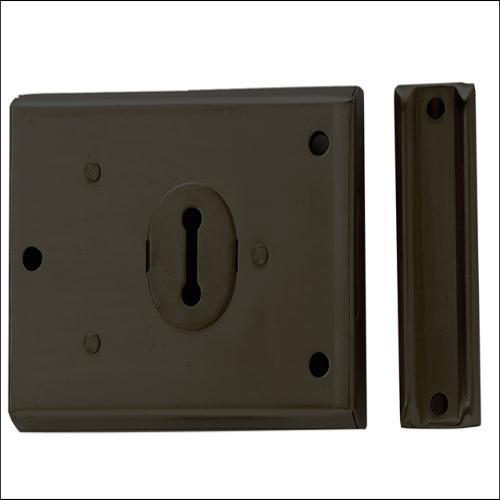 Yale P402 Rim Lock Grey Finish 102x76mm Visi London