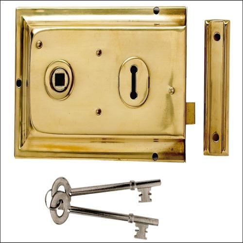 Yale P334 Rim Lock Brass Finish 156x104mm Vis London