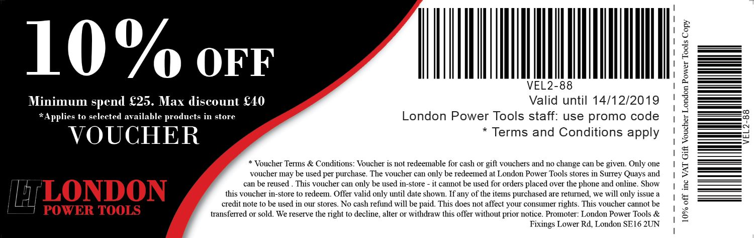 10% black friday discount voucher